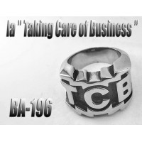 Ba-196, Bague Taking Care of Business en acier inoxydable