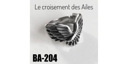 Ba-204, Bague Le Croisement des Ailes, acier inoxidable