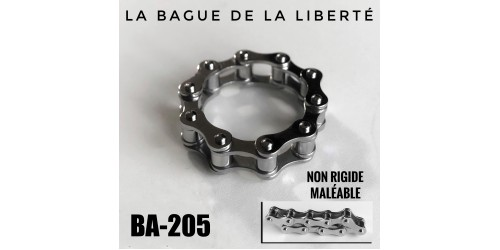 Ba-205, Bague La Liberté, maléable,acier inoxidable