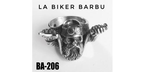 Ba-206, Bague La Biker Barbu,acier inoxidable