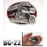 Bc-01Boucle de ceinture Born to Ride (to be translated)