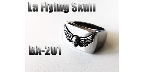 Ba-201, Bague La Flying skull acier inoxidable