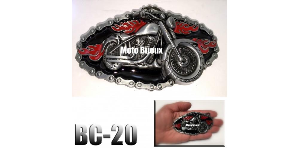 bc 20 boucle de ceinture moto enflamm e. Black Bedroom Furniture Sets. Home Design Ideas