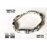 Br-193, Bracelet cylindres « stainless steel »