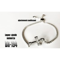 Br-194, Bracelet Croix « stainless steel »