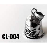 CL-004 cloche protectrice (Guardian Bell) willy skull, acier inoxidable (Stainless Steel)