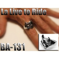 Ba-131, Bague La Live to ride, Acier inoxidable
