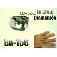 Ba-51, Bague tete de mort enflammée en acier inoxidable (to be translated)