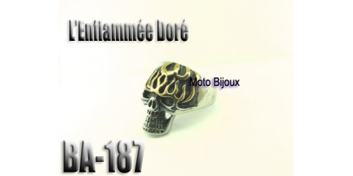 Ba-187 L'enflammé doré acier inoxidable