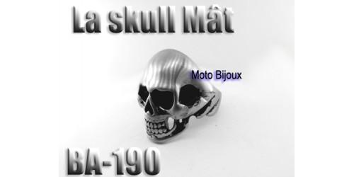 Ba-190 La Skull Mât, acier inoxidable