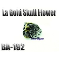 Ba-192 La Gold Skull Flower acier inoxidable