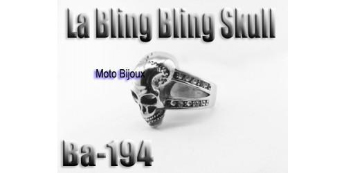Ba-194 La Bling Bling skull,, acier inoxidable