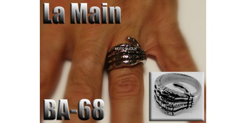Ba-068, Bague La Main inoxidable