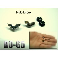 Bo-50, Boucles d'oreilles tête de mort allongée (to be translated)
