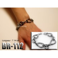 Br-112, Bracelet  acier inoxidable « stainless steel »