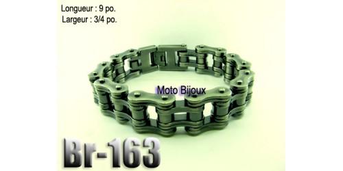 Br-163 bracelet chaîne vintage ,acier inoxidable « stainless steel »