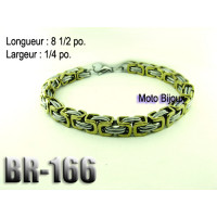 Br-166, Bracelet  acier inoxidable « stainless steel »