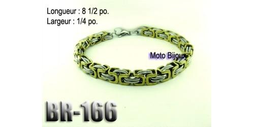 Br-166, Bracelet  acier inoxidable « stainless steel »