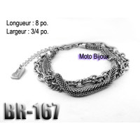 Br-167, Bracelet  acier inoxidable « stainless steel »