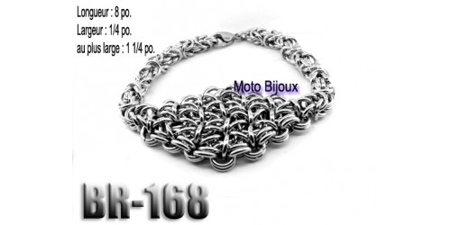 Br-168, Bracelet  acier inoxidable « stainless steel »