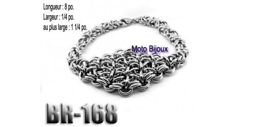 Br-168, Bracelet  acier inoxidable « stainless steel »