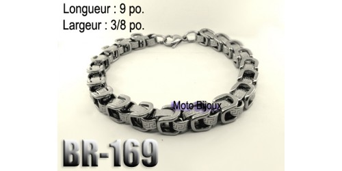 Br-169, Bracelet  acier inoxidable « stainless steel »