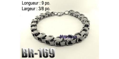 Br-169, Bracelet  acier inoxidable « stainless steel »