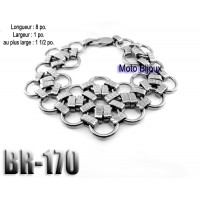 Br-170, Bracelet  acier inoxidable « stainless steel »