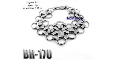 Br-170, Bracelet  acier inoxidable « stainless steel »