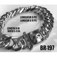 Br-197, Bracelet Willy Skull « stainless steel »
