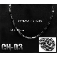 Ch-002, Chaîne de moto, acier inoxidable ( Stainless Steel ) (to be translated)