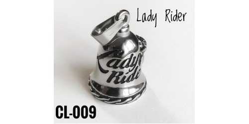 CL-009 cloche protectrice (Guardian Bell) Lady Rider, acier inoxidable (Stainless Steel)