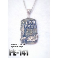 Pe-141 Live Free  , Acier inoxidable ( Stainless Steel )